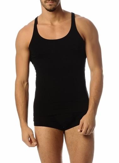 Goldenbay Erkek Kalın Askılı Pamuklu Nefes Alan Koton Kumaş Atlet  Siyah